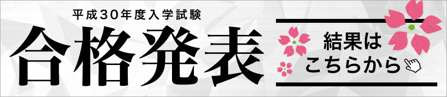 平成30年度入学試験合格発表